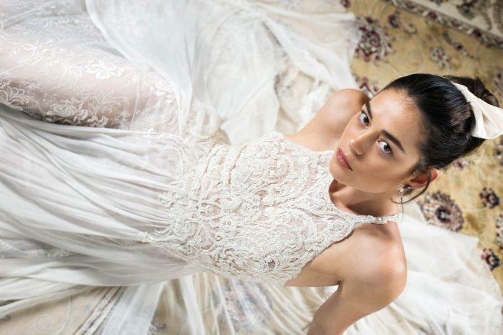 שמלת נינה עם רקמת חרוזים מרהיבה